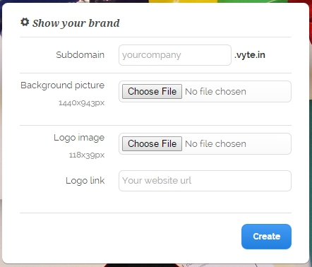 vyte_in_Show_your_brand_settings