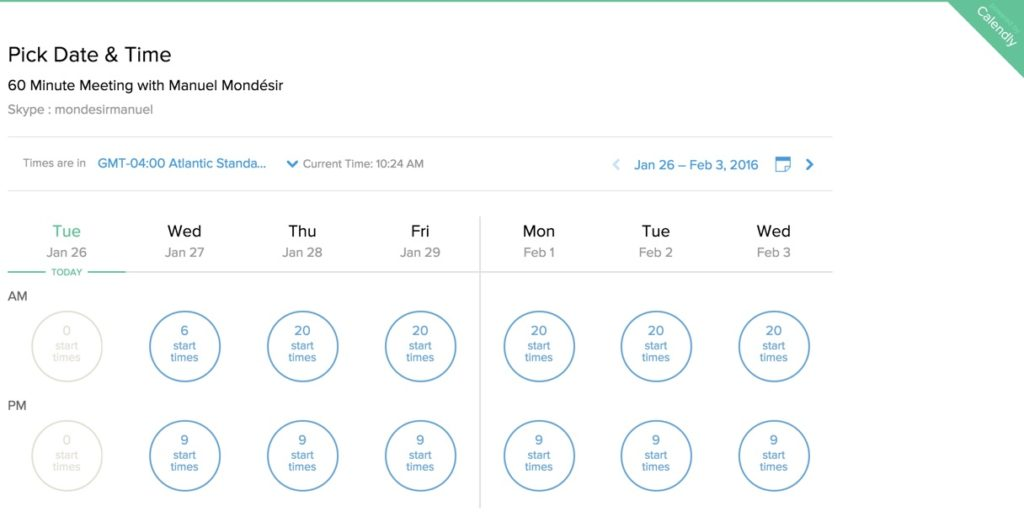 Calendly-scheduling-page