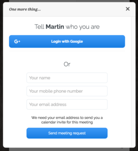 Phone number being asked